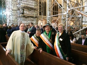 National Chaplain Father Martine, Past National President Margaret Hennessy, National President Mary Hogan, National Catholic Action Mary Ann Lubinsky.