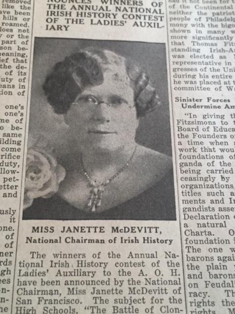 Miss Janette McDevitt