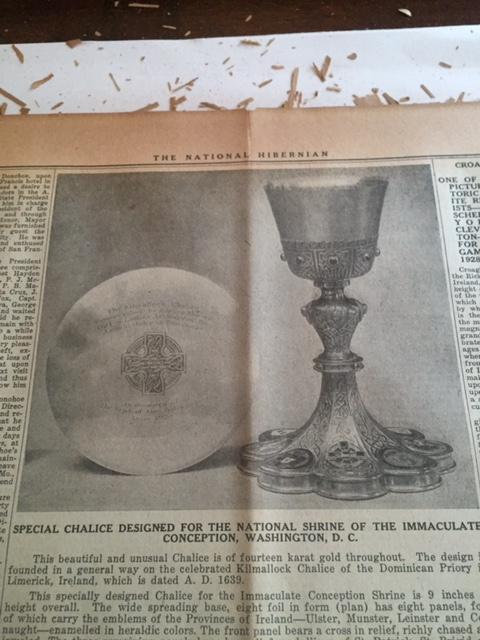 National Hibernian Article . Courtesy of Marilyn Madigan