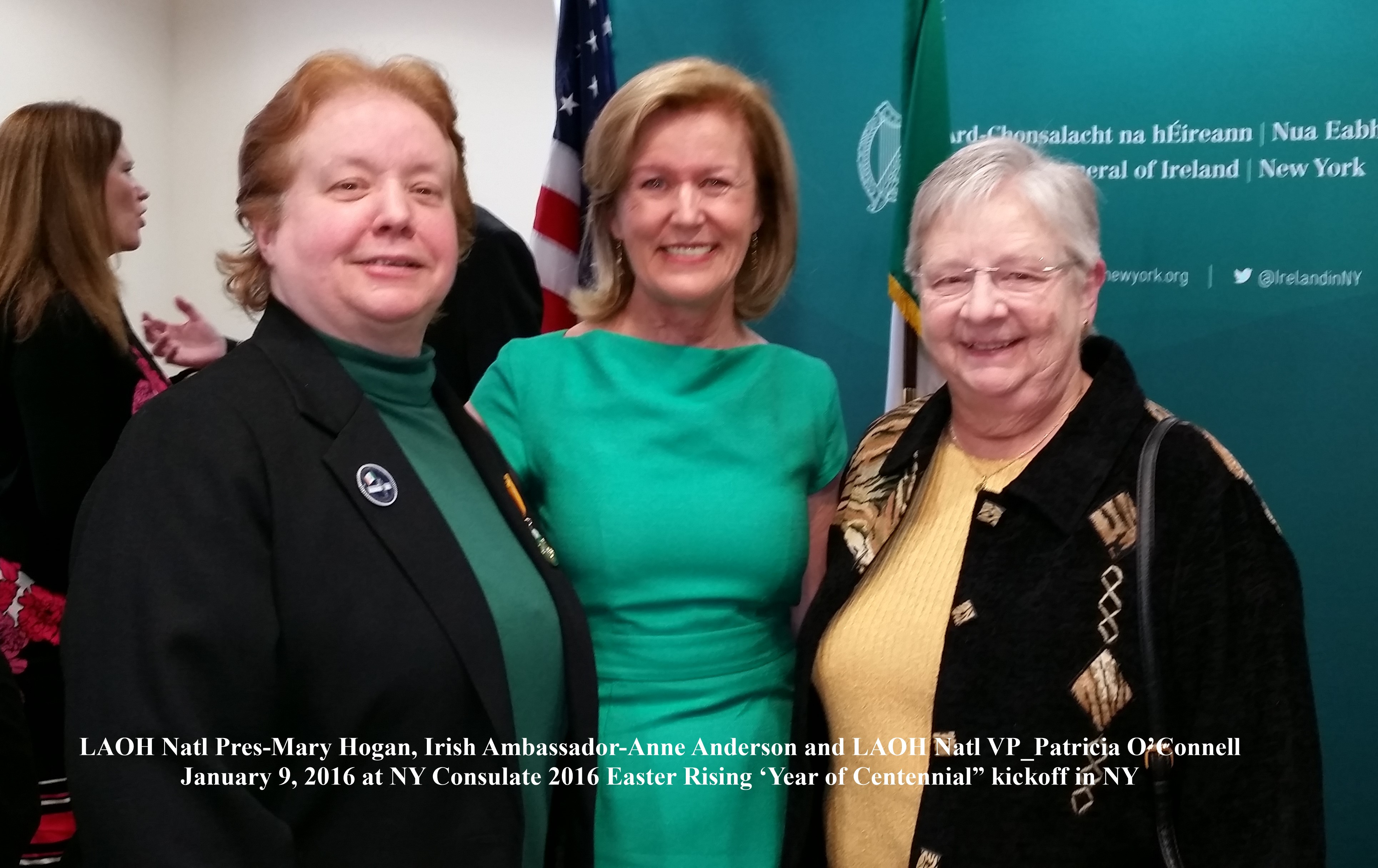 2016 Centennial Kickoff Mary Hogan, Anne Anderson, and Pat O'Connell January 2016