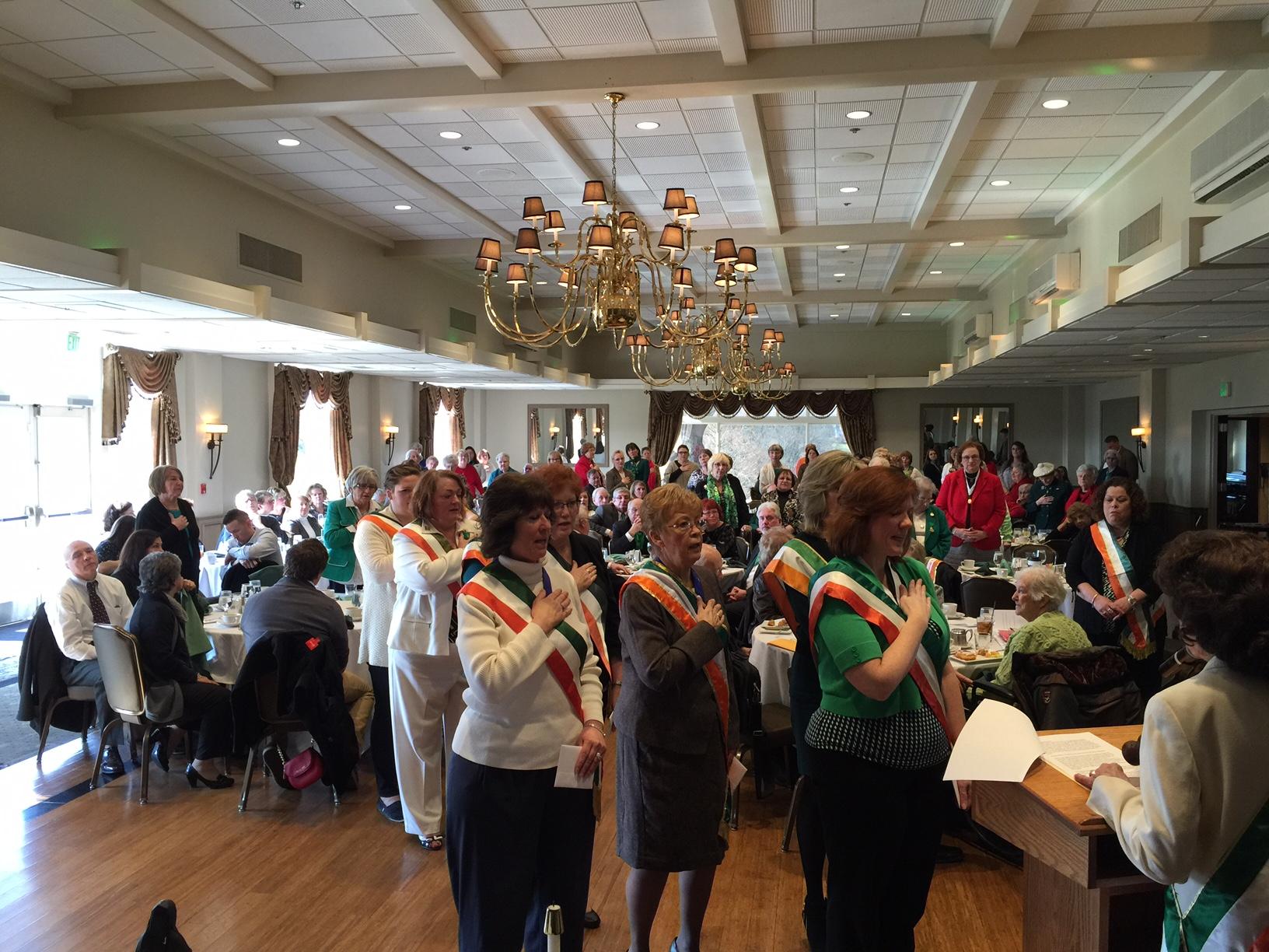 Div 11 President getting installed 2016 St Brigids Mass