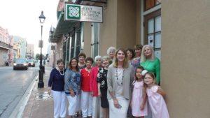 Members of Louisiana's Margaret Haughery Division, New Orleans at the Irish Cultural Museum.